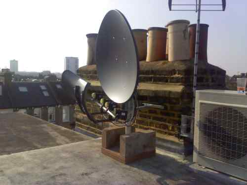 Big Force dish on Patio Mount